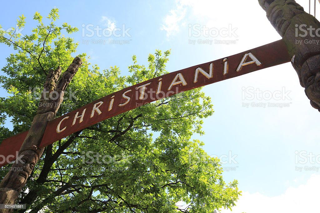Freetown Christiania, Copenhagen stock photo