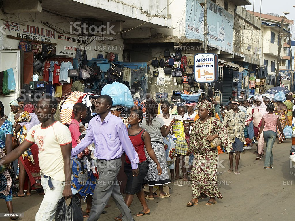 Freetown City Center stock photo