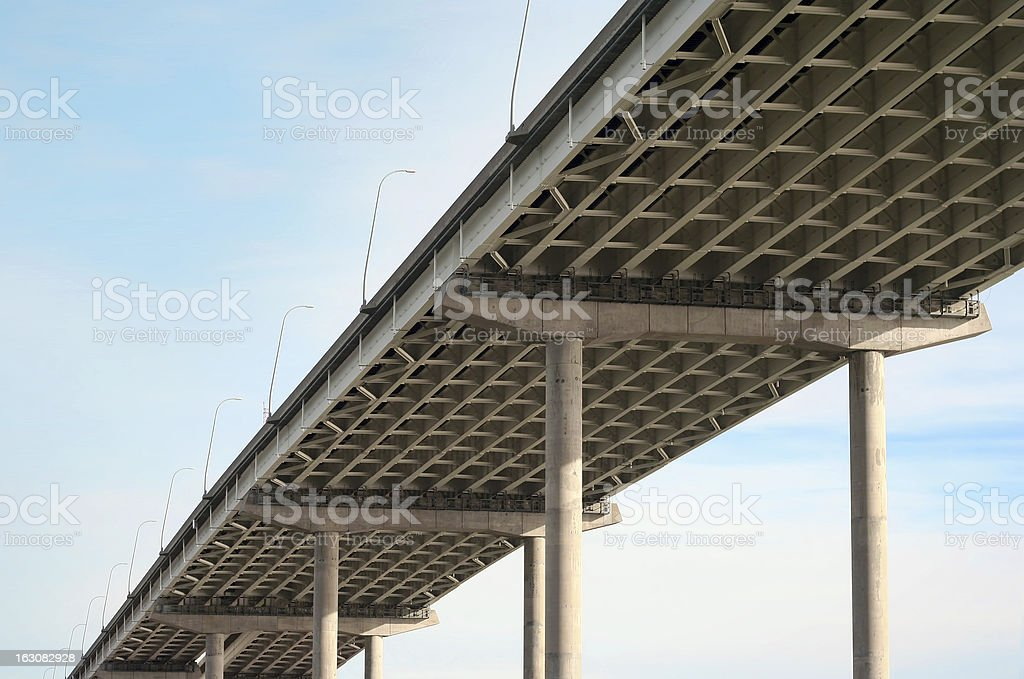 Freeway bridge royalty-free stock photo