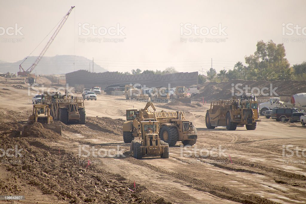 Freeway construction royalty-free stock photo