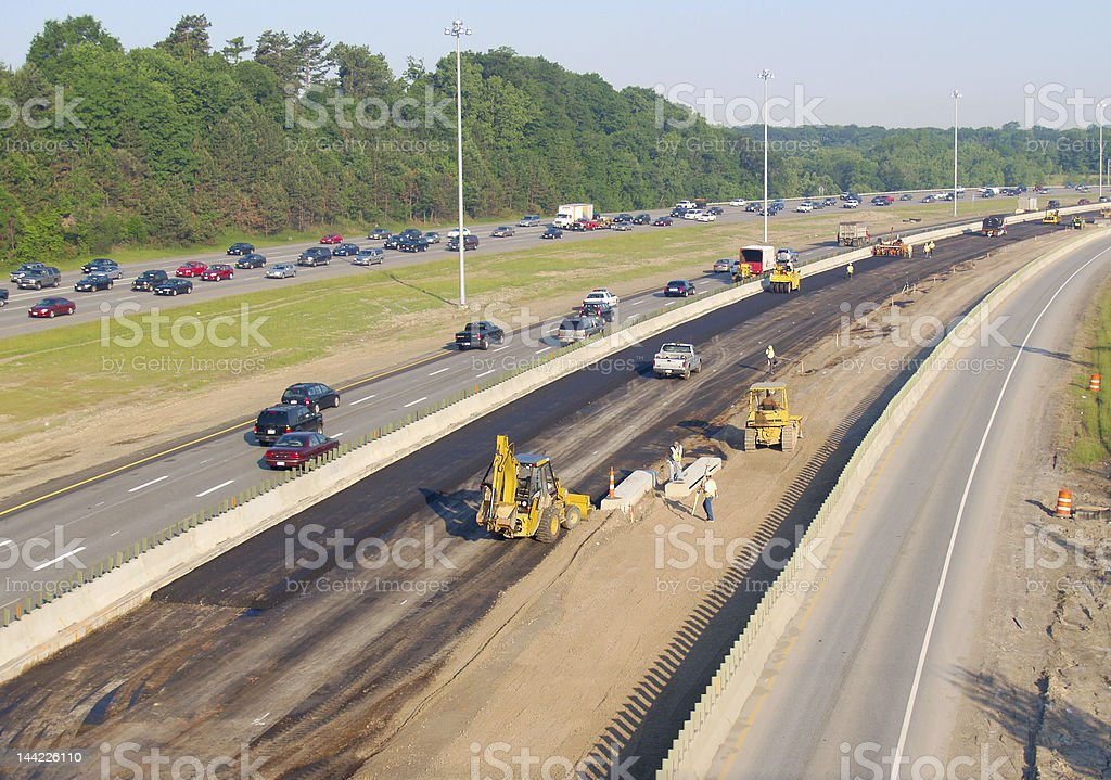 Freeway construction royalty-free stock photo