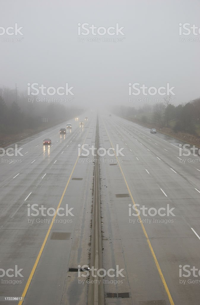 Freeway in Bad Weather royalty-free stock photo