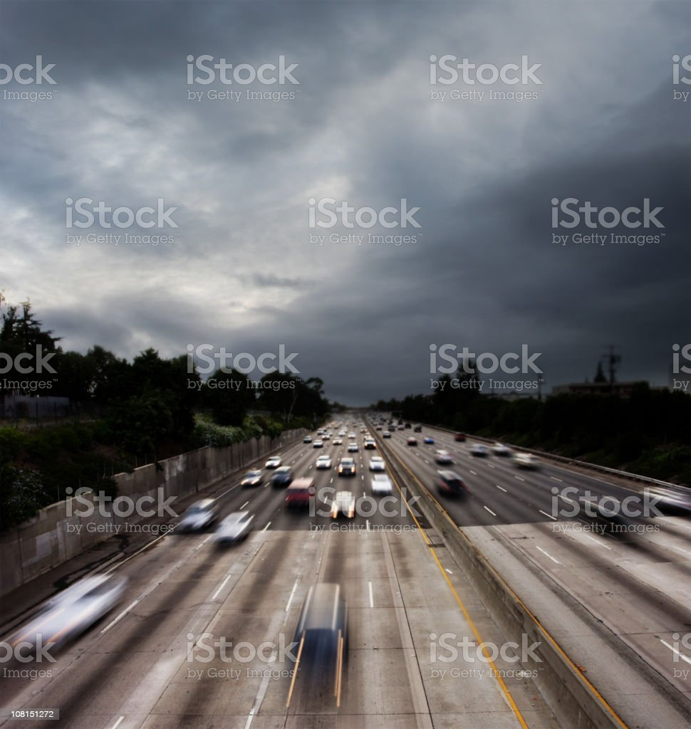 101 Freeway in Los Angeles royalty-free stock photo