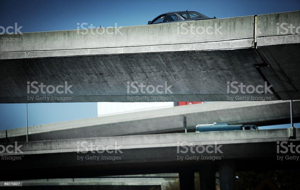 Freeway Interchange stock photo