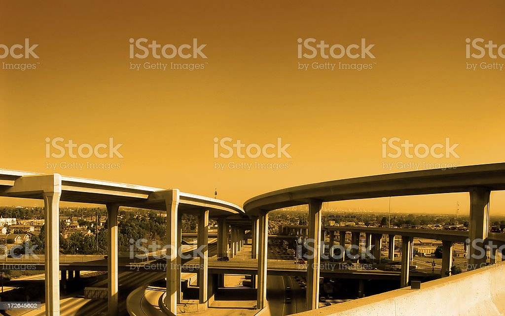 Freeway intersection / Overpass royalty-free stock photo