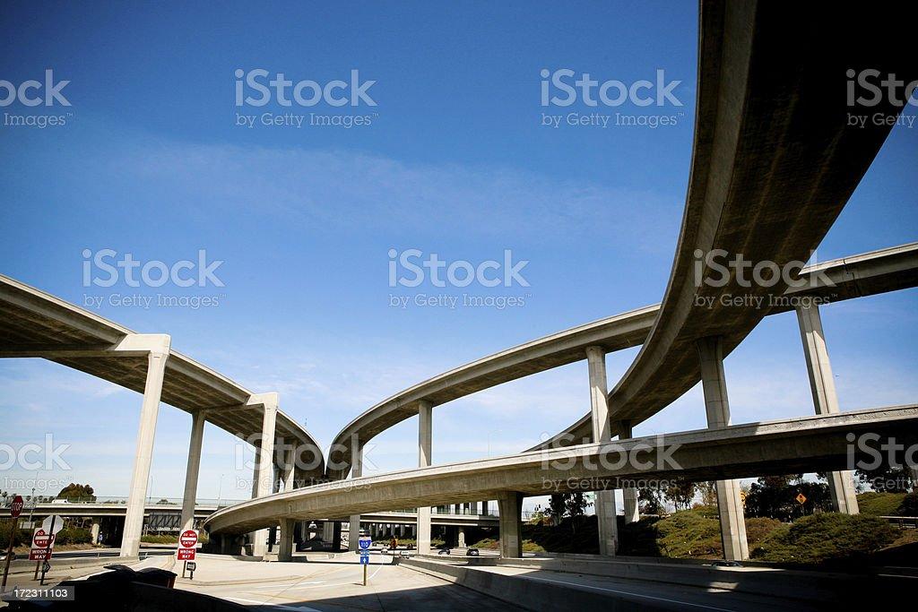 Freeway Intersection XXLarge royalty-free stock photo