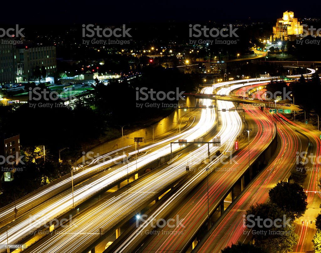 Freeway Motion Blur stock photo