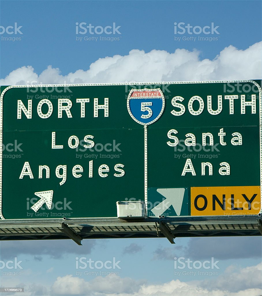 freeway sign royalty-free stock photo