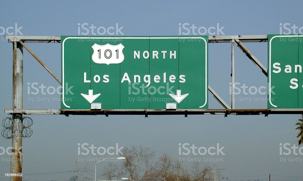 L.A. Freeway Sign stock photo