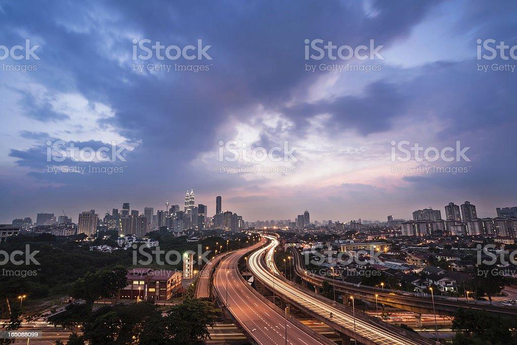 freeway to kuala lumper royalty-free stock photo