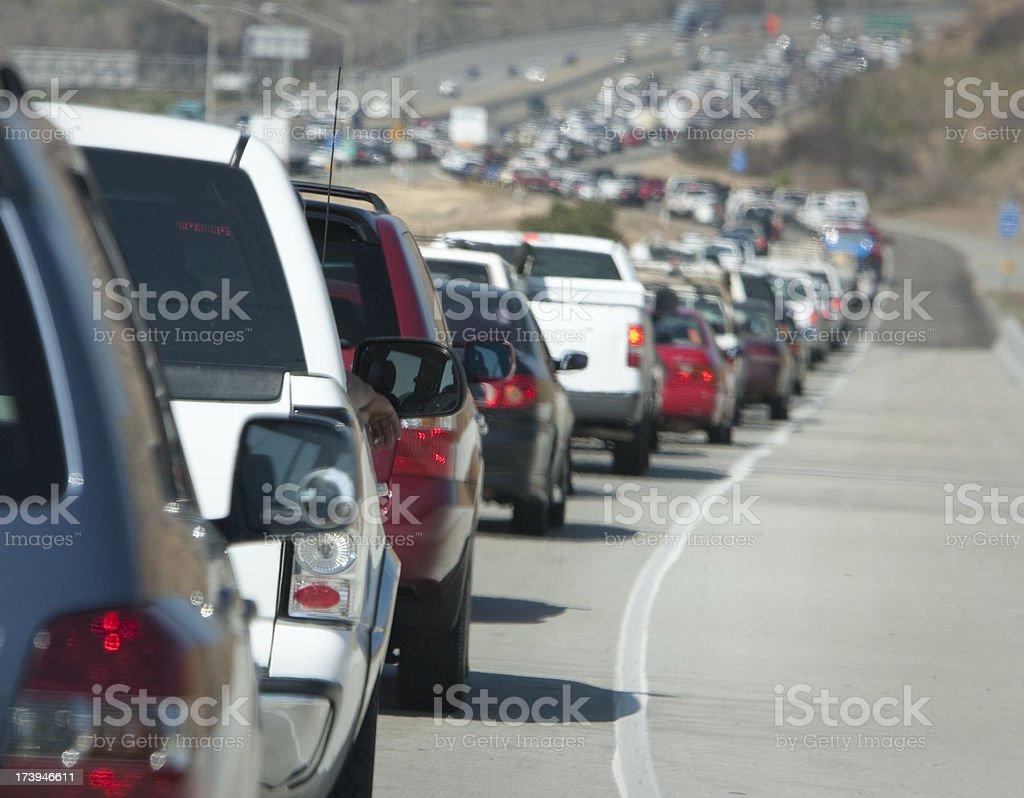Freeway traffic California royalty-free stock photo
