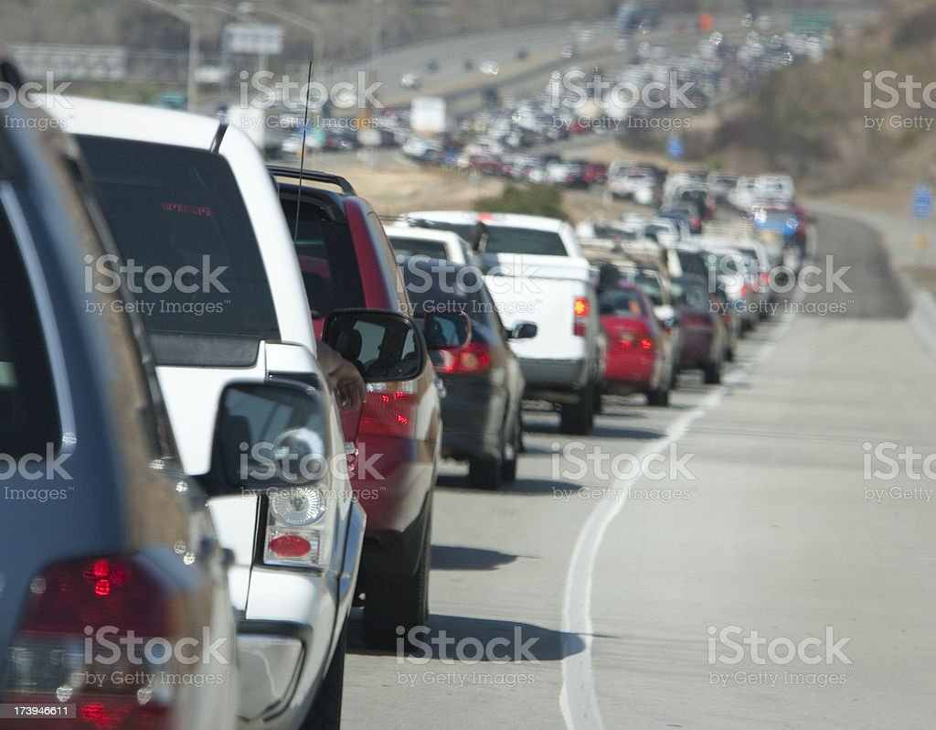 Freeway traffic California stock photo