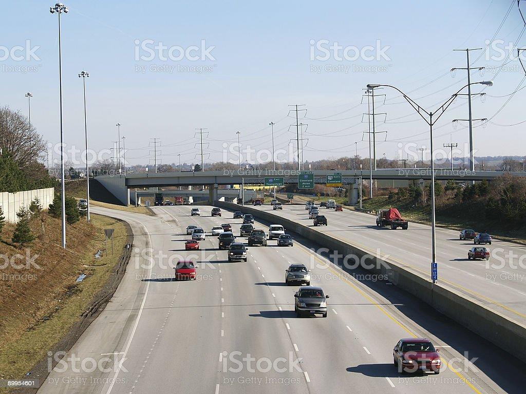 Freeway traffic royalty-free stock photo