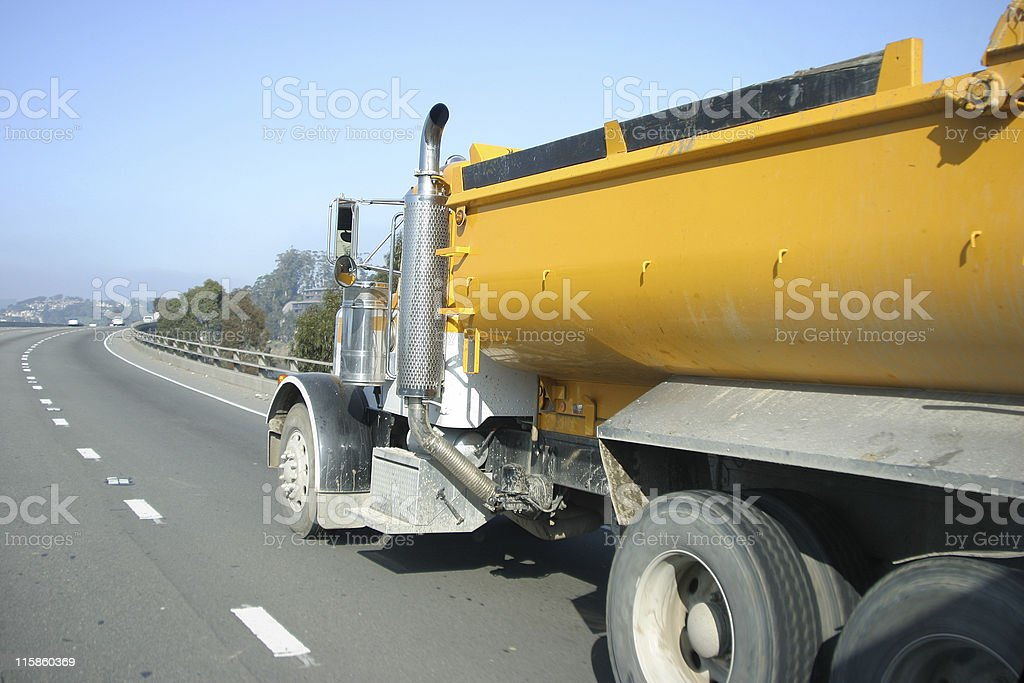 Freeway Truck royalty-free stock photo