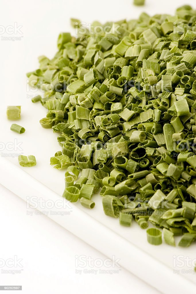 Freeze dried chives royalty-free stock photo