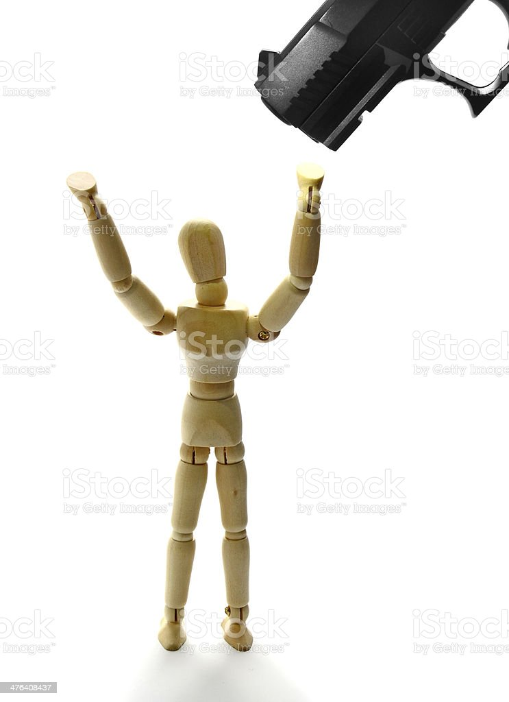 Freeze hands up royalty-free stock photo
