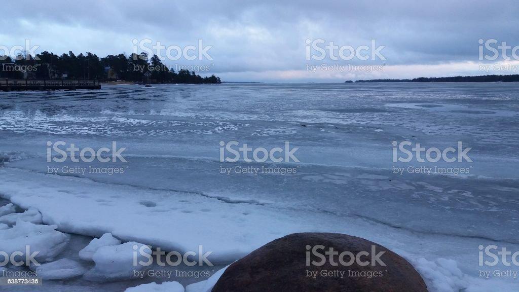 Freezed Bultic stock photo