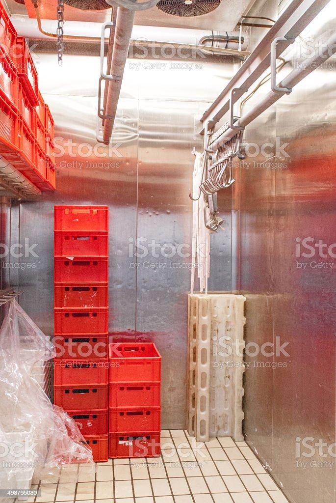 freezer storage with hooks stock photo