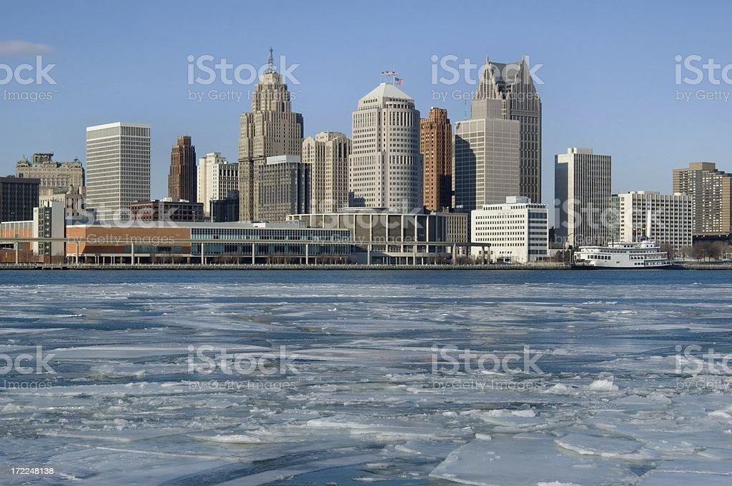 Freezing Detroit royalty-free stock photo