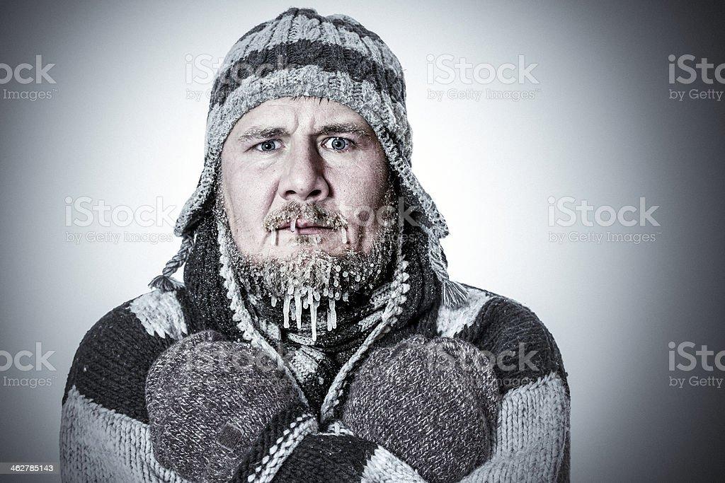 Freezing royalty-free stock photo