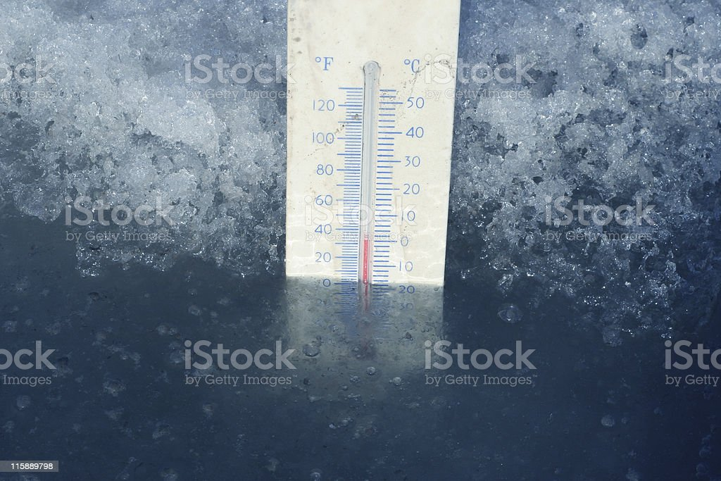 Freezing Point stock photo