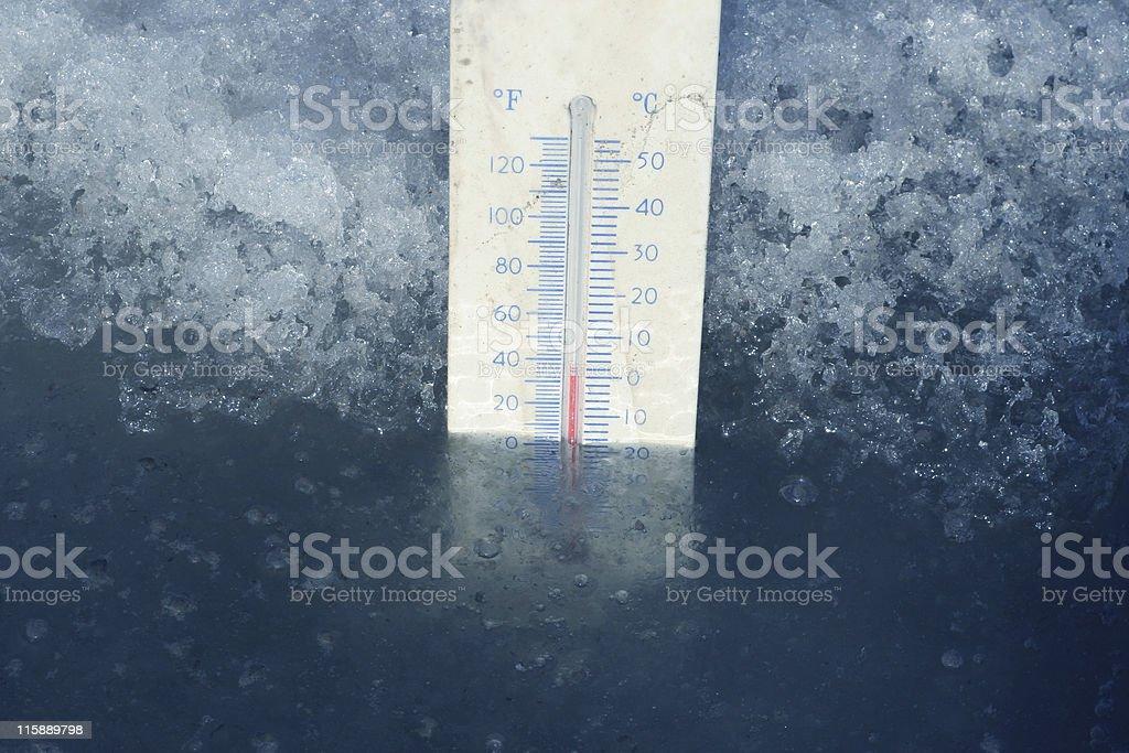 Freezing Point stock photo