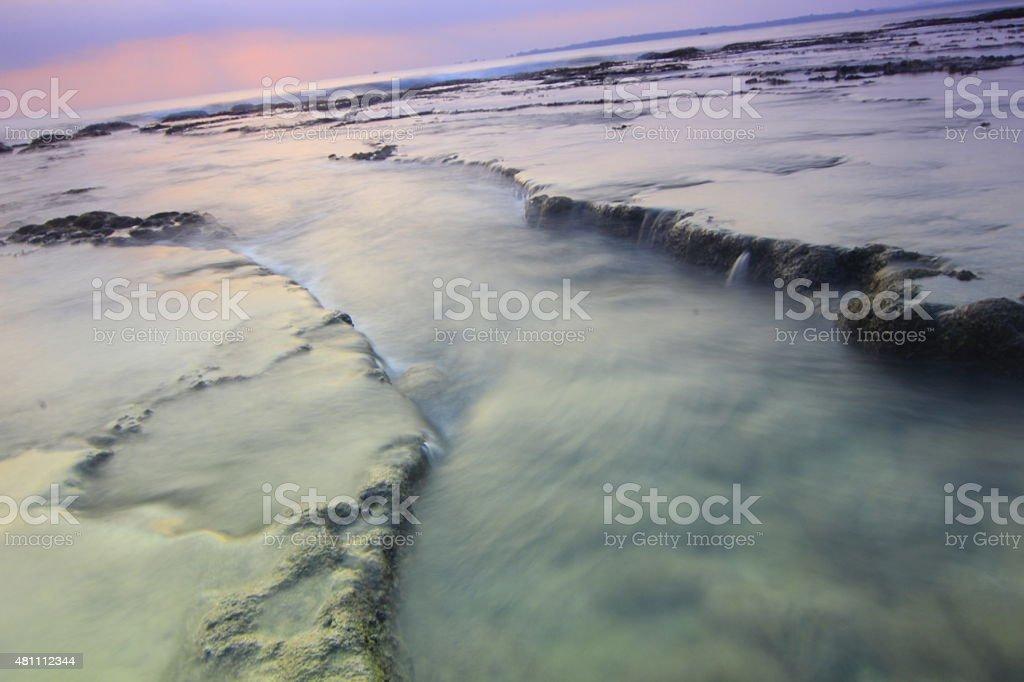 freezing sunset stock photo