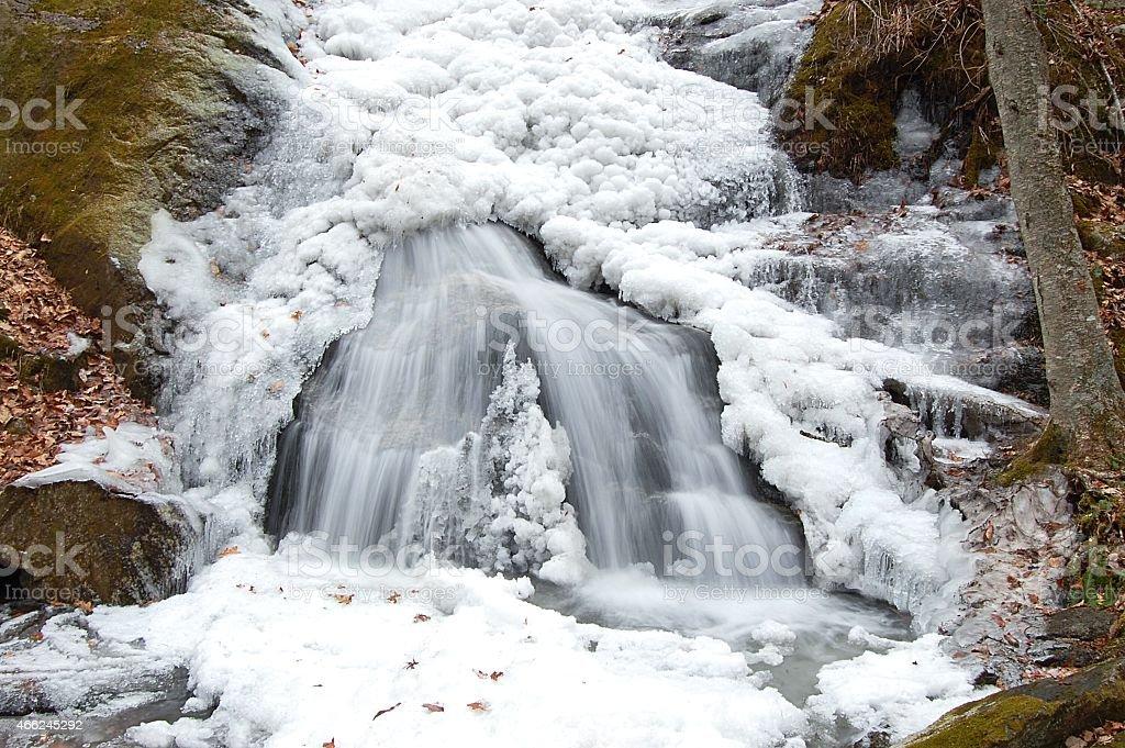 Freezing Waterfall stock photo