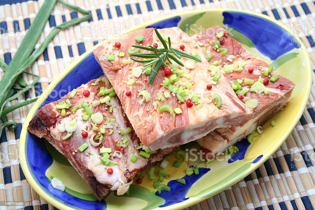 Freh meat stock photo