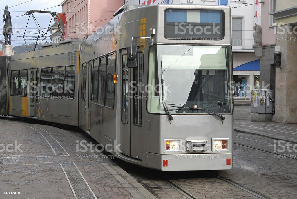 Freiburg Tram royalty-free stock photo