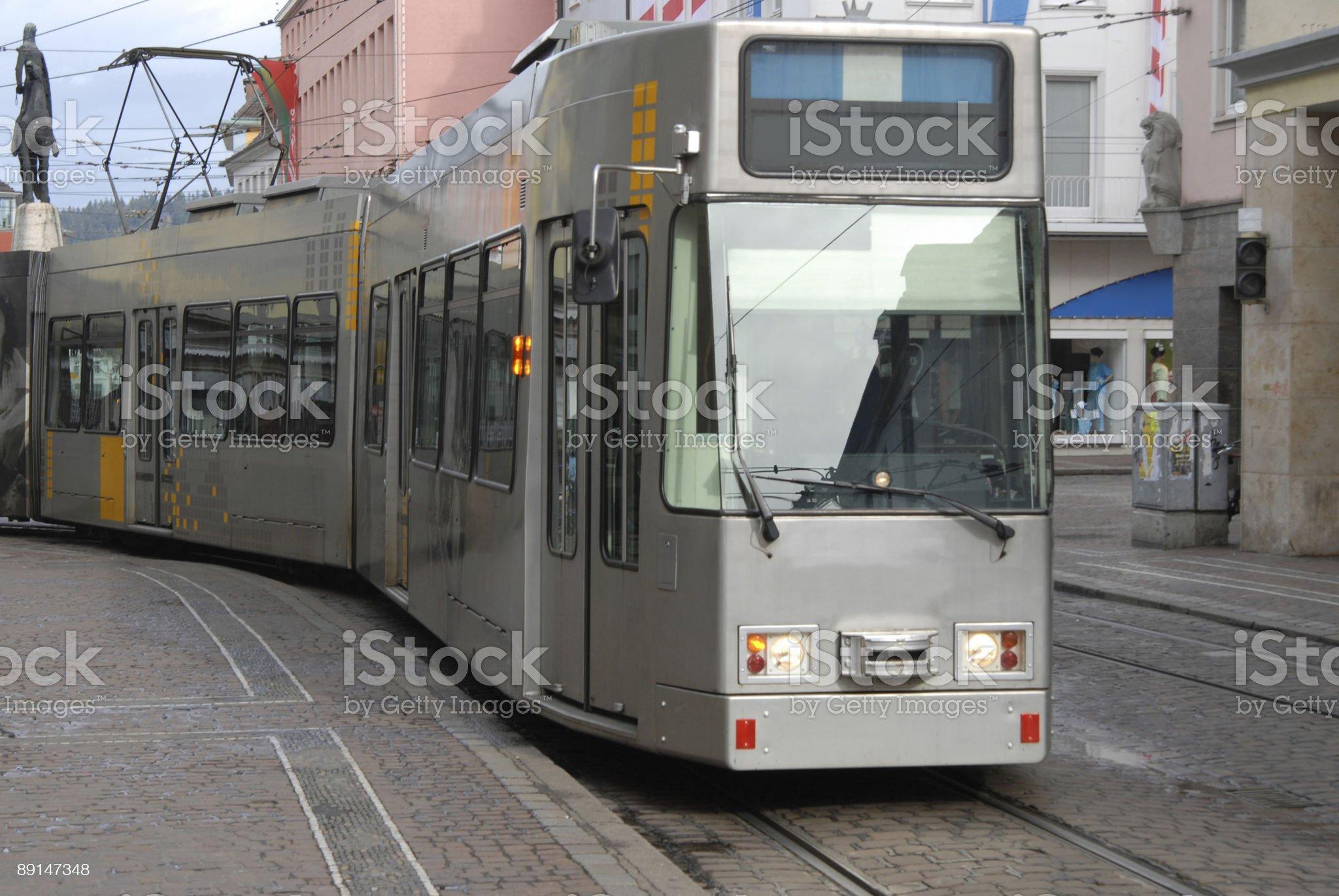 Freiburg Tram royalty-free stock photo