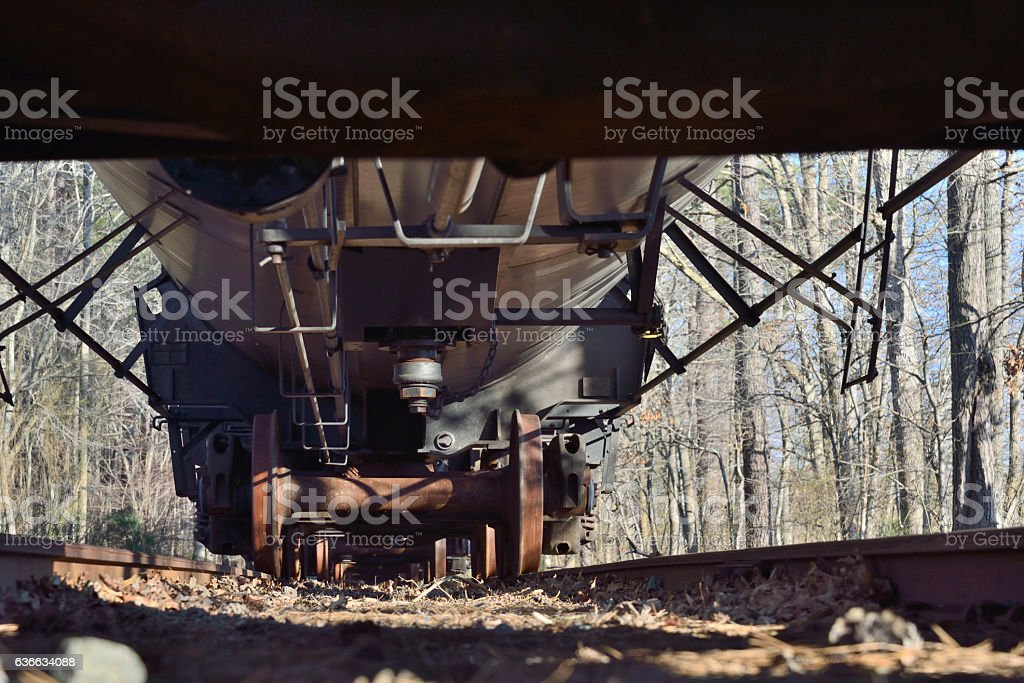 Freight Car Underbelly stock photo
