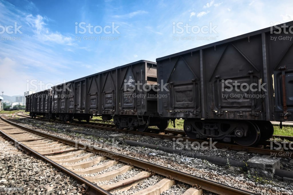 freight cars stock photo