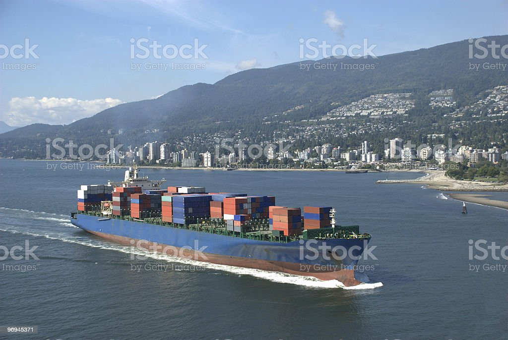 Freight Container Ship royalty-free stock photo