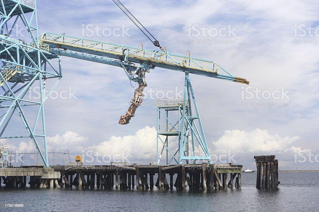 Freight Crane Conveyor Shipping Equipment royalty-free stock photo