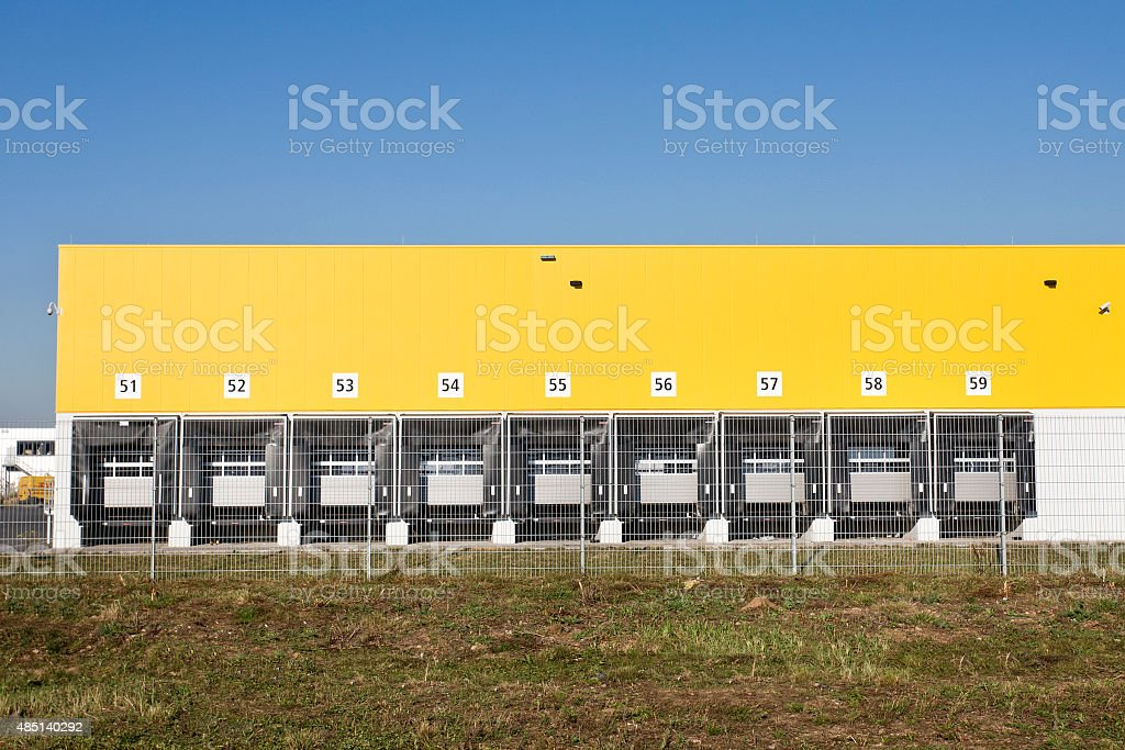 Freight distribution center stock photo