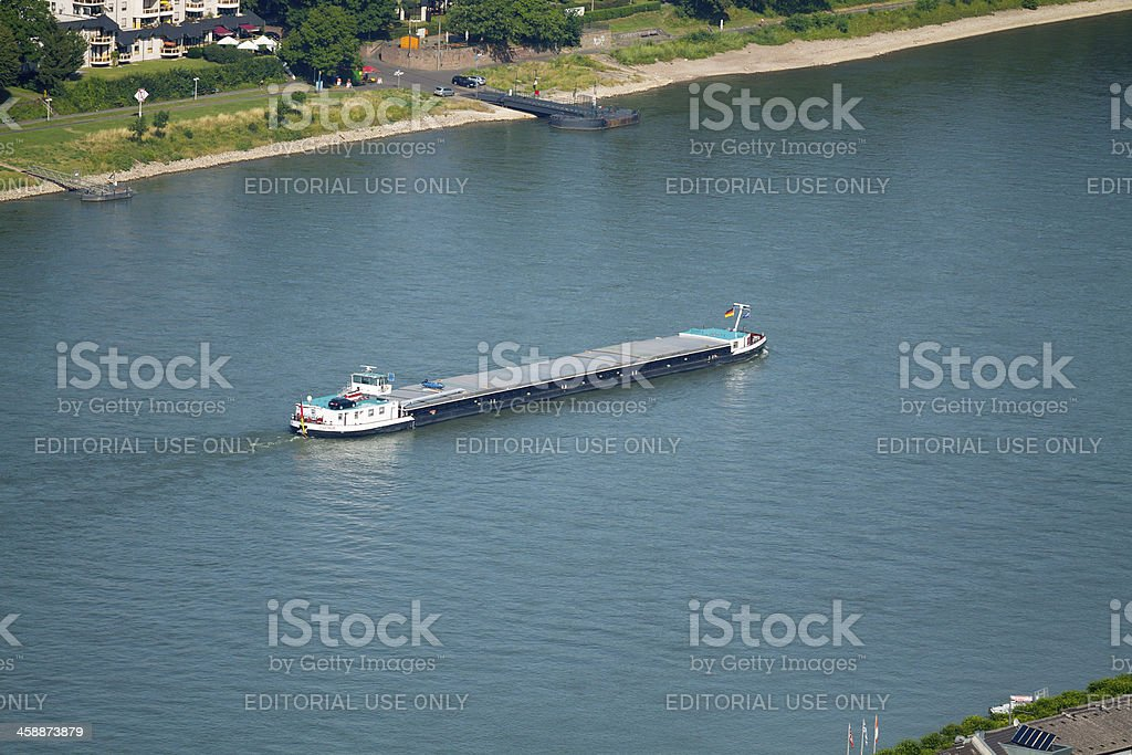 Freight on Rhine downstream royalty-free stock photo