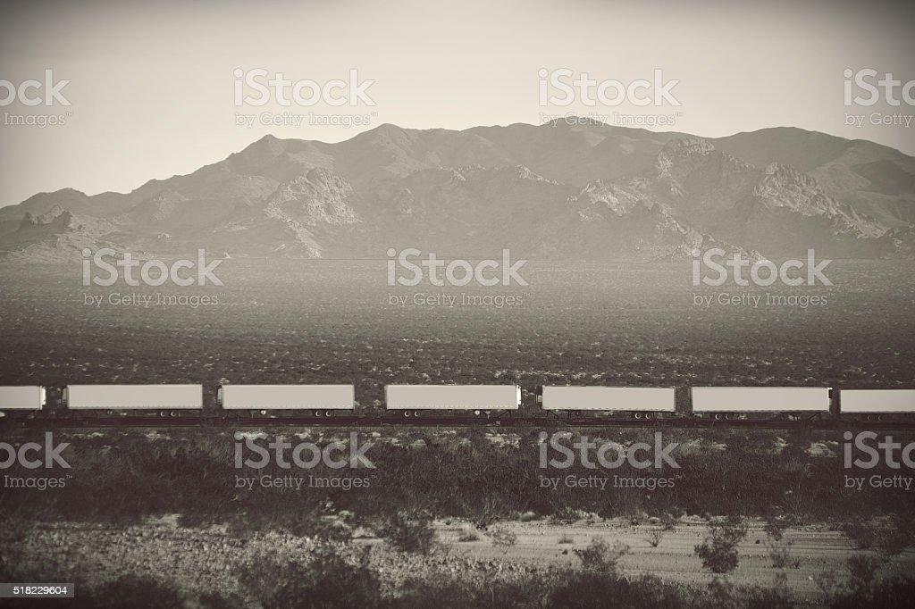 Freight Route 66 stock photo