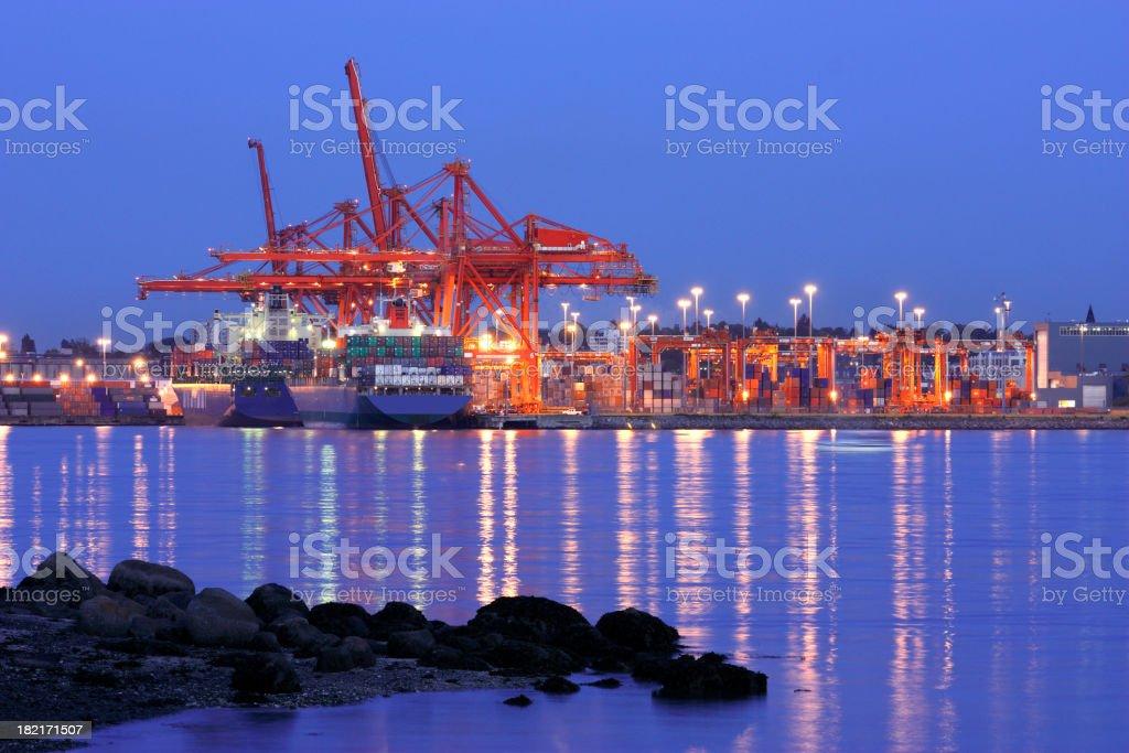 freight terminal royalty-free stock photo