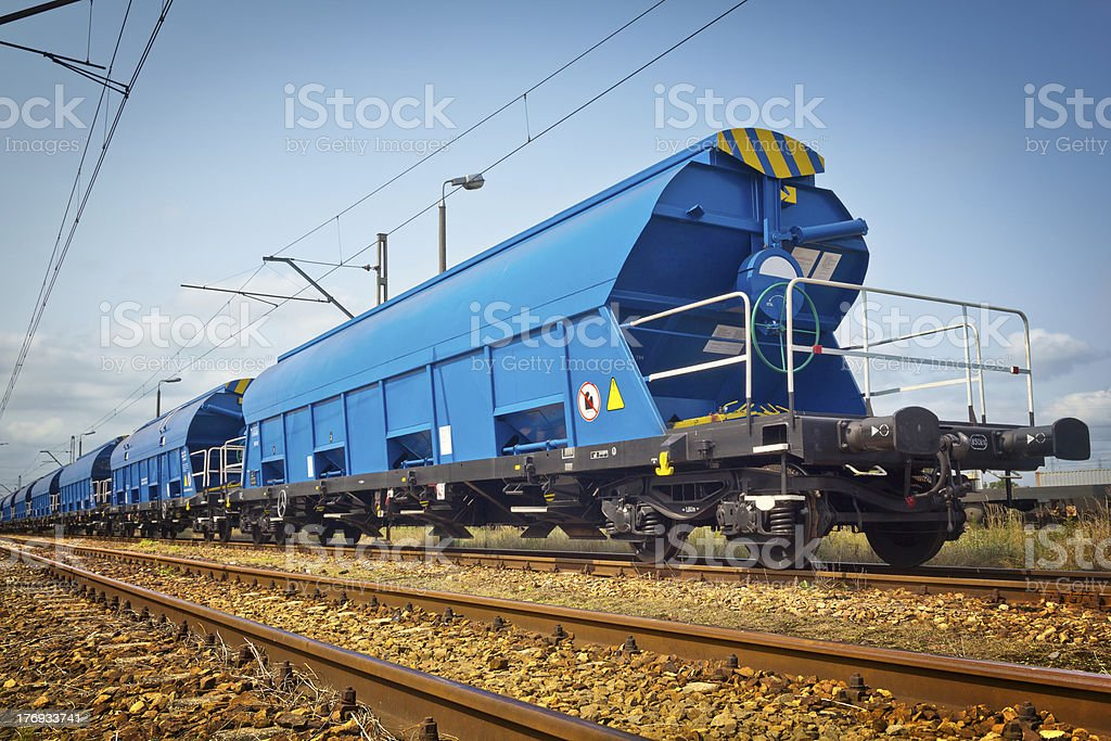 Freight Train carriage royalty-free stock photo