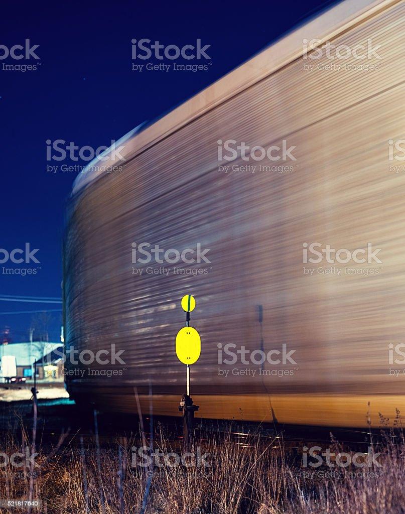 Freight Train in Rail Siding stock photo