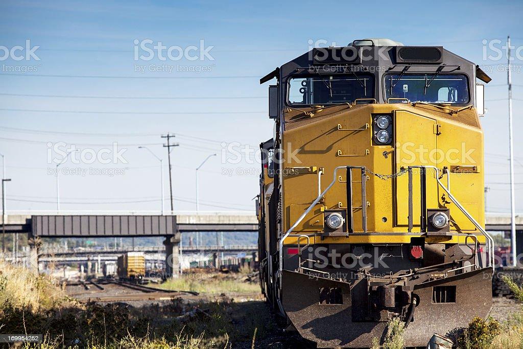 Freight Train Locomotive stock photo