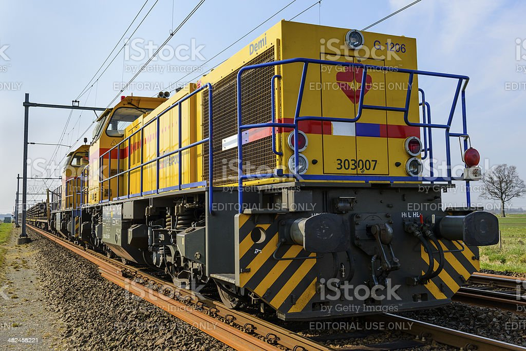 Freight train locomotive stock photo