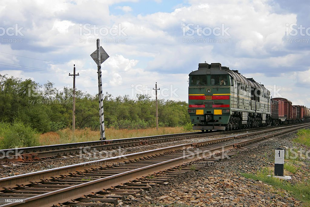 Freight Train royalty-free stock photo