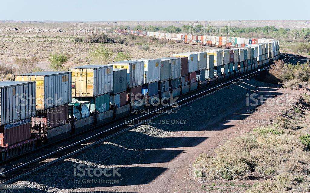 BNSF Freight Train stock photo