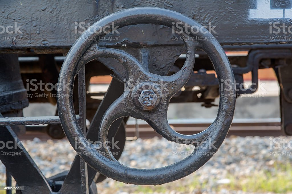 Freight train valve stock photo