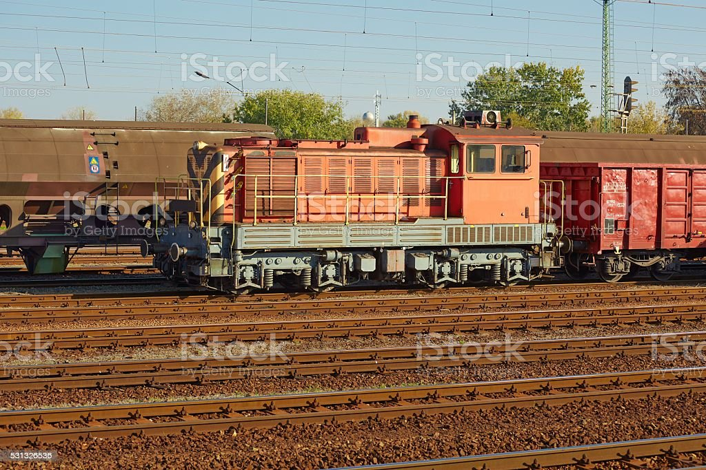 Freight Train Wagons stock photo