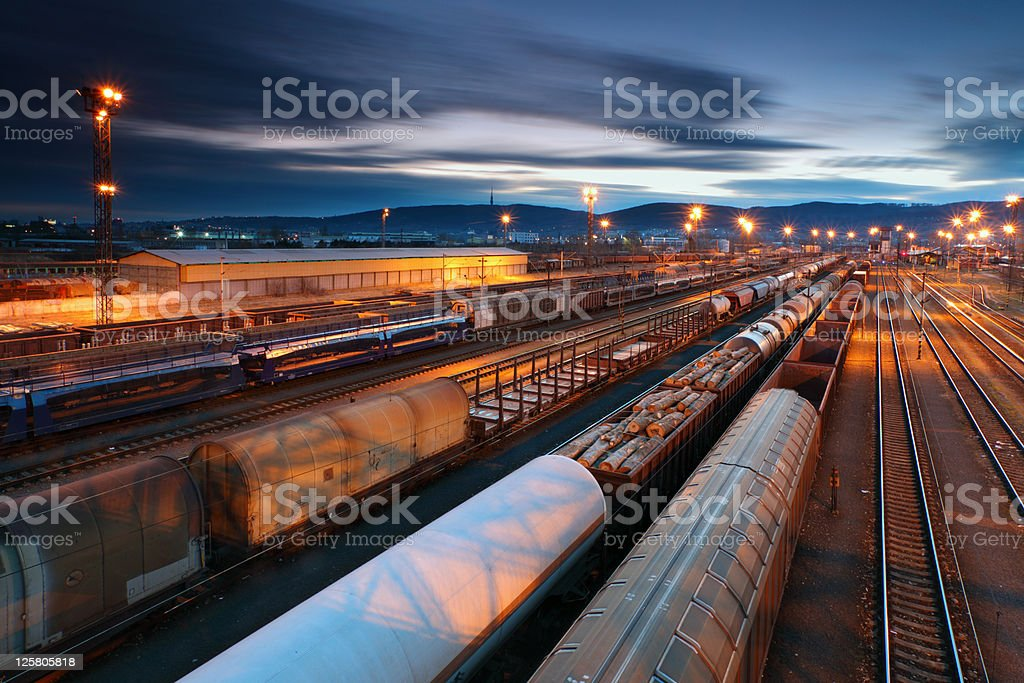 Freight Trains and Railways stock photo