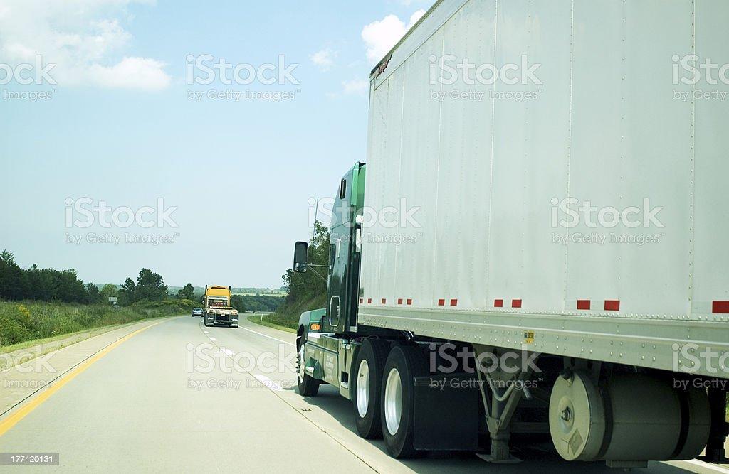 Freight transportation highway stock photo