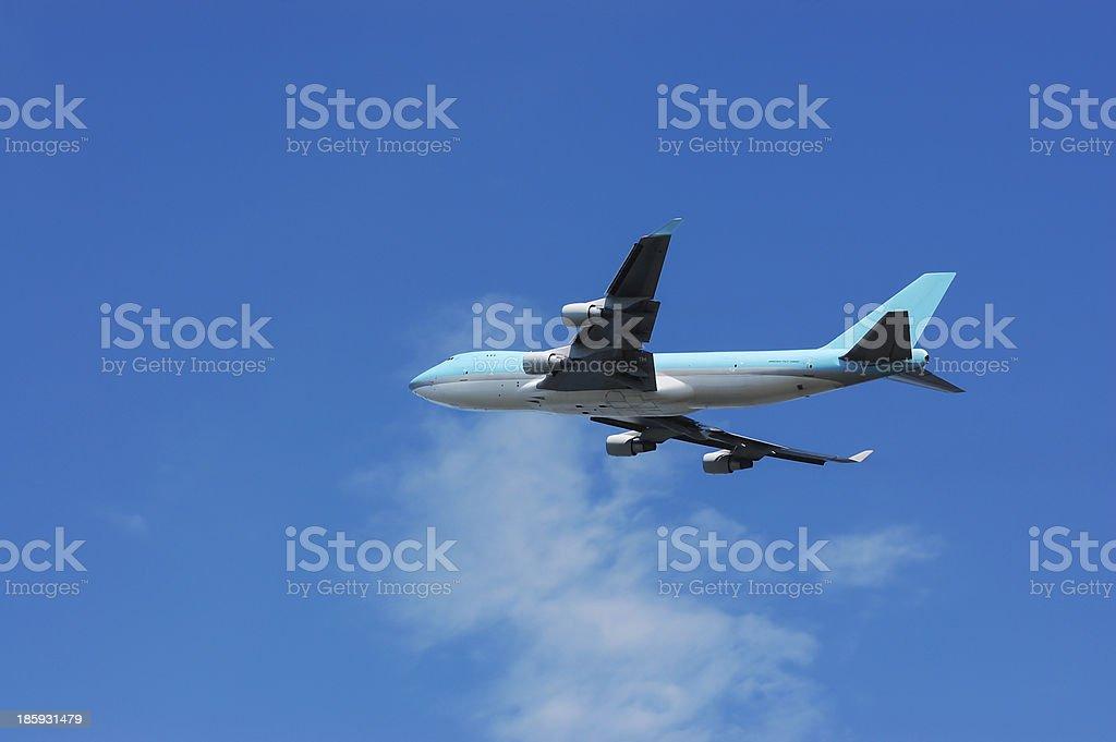 Freighter cargo plane royalty-free stock photo